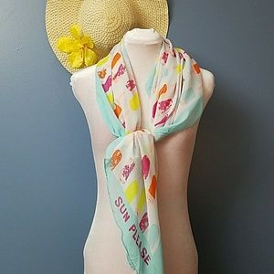 Summer fun light mint green popsicle print scarf